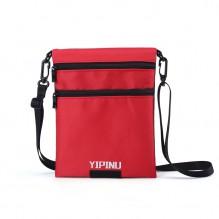 Дорожный кошелек на шею YIPINU. Красный/Черный
