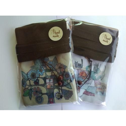 Женская сумка-кошелек Cats текстильная  в  Интернет-магазин Zelenaya Vorona™ 1
