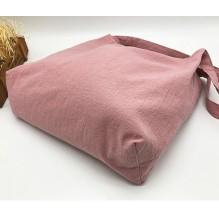 Летняя текстильная сумка. Светло-розовая