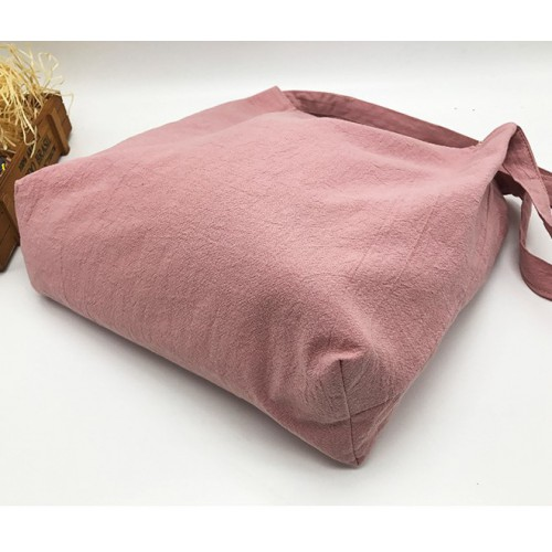 Летняя текстильная сумка. Светло-розовая  в  Интернет-магазин Zelenaya Vorona™ 1