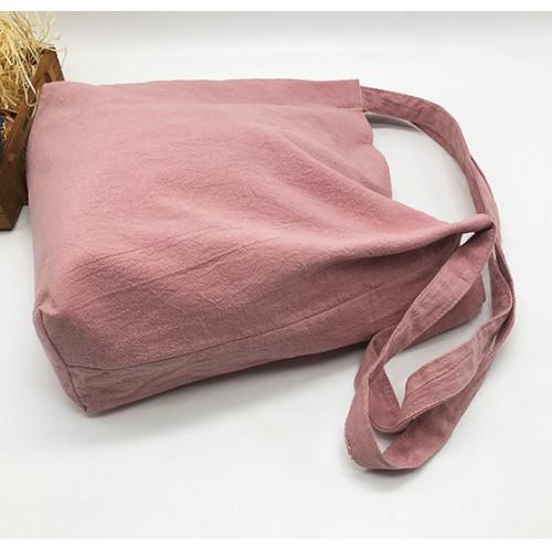 Летняя текстильная сумка. Светло-розовая  в  Интернет-магазин Zelenaya Vorona™ 2