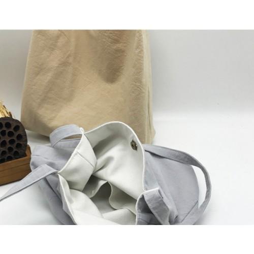 Летняя текстильная сумка. Светло-серая  в  Интернет-магазин Zelenaya Vorona™ 2