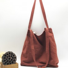 Летняя текстильная сумка. Кирпичная