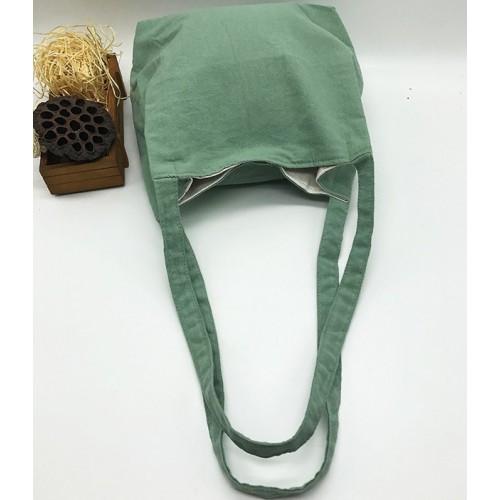 Летняя текстильная сумка. Светло-зеленая  в  Интернет-магазин Zelenaya Vorona™ 1