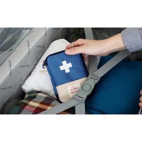 Мини аптечка органайзер для путешествий. Синяя  в  Интернет-магазин Zelenaya Vorona™ 2