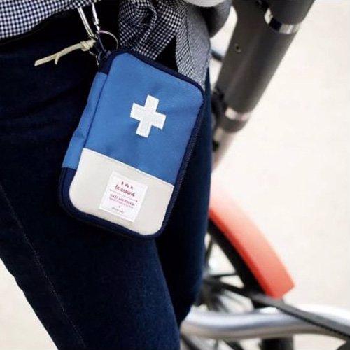 Покупка  Мини аптечка органайзер для путешествий. Синяя в  Интернет-магазин Zelenaya Vorona™