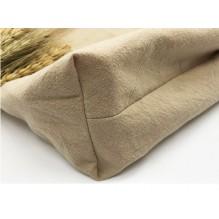 Летняя текстильная сумка. Светло-бежевая