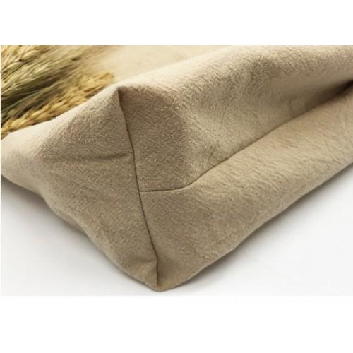 Летняя текстильная сумка. Светло-бежевая  в  Интернет-магазин Zelenaya Vorona™ 4