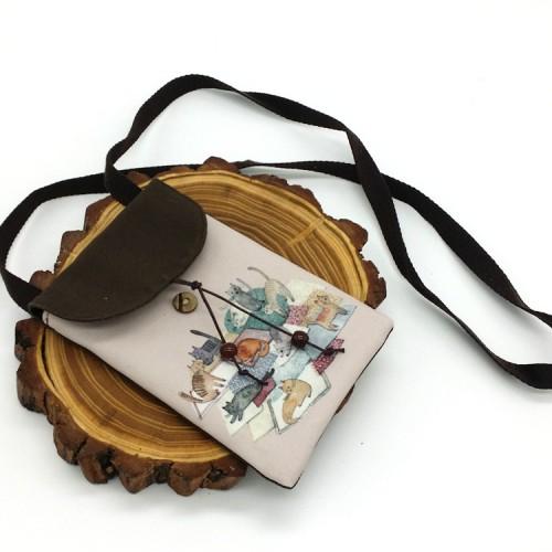 Покупка  Женская сумка-кошелек Cats текстильная в  Интернет-магазин Zelenaya Vorona™