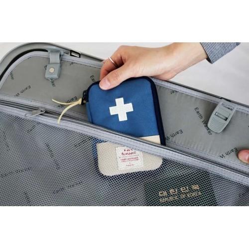 Мини аптечка органайзер для путешествий. Синяя  в  Интернет-магазин Zelenaya Vorona™ 3