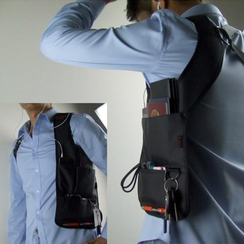 Сумка скрытого ношения для документов с внутренним карманом  в  Интернет-магазин Zelenaya Vorona™ 3