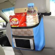 Органайзер на спинку сидения в автомобиль. Малиновый