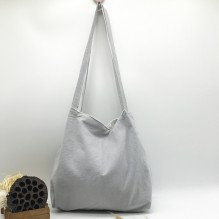 Летняя текстильная сумка. Светло-серая