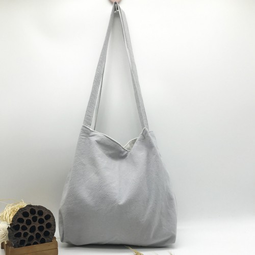 Покупка  Летняя текстильная сумка. Светло-серая в  Интернет-магазин Zelenaya Vorona™