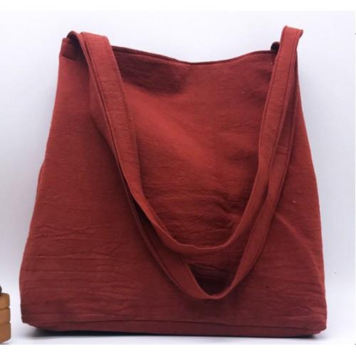 Летняя текстильная сумка. Кирпичная  в  Интернет-магазин Zelenaya Vorona™ 2