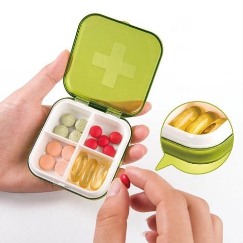 Карманная таблетница Pocket Pill Case Mini. Оранжевый  в  Интернет-магазин Zelenaya Vorona™ 1