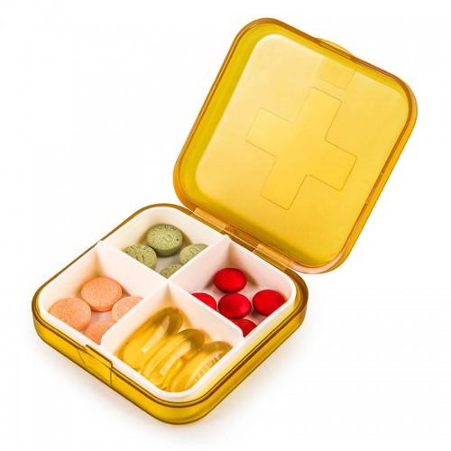 Покупка  Карманная таблетница Pocket Pill Case Mini. Оранжевый в  Интернет-магазин Zelenaya Vorona™