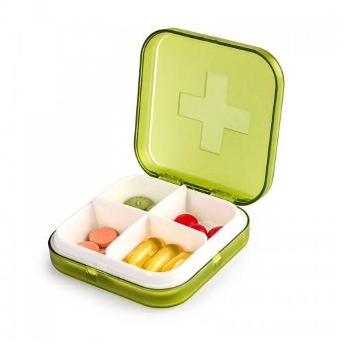 Покупка  Карманная таблетница Pocket Pill Case Mini. Зеленый в  Интернет-магазин Zelenaya Vorona™