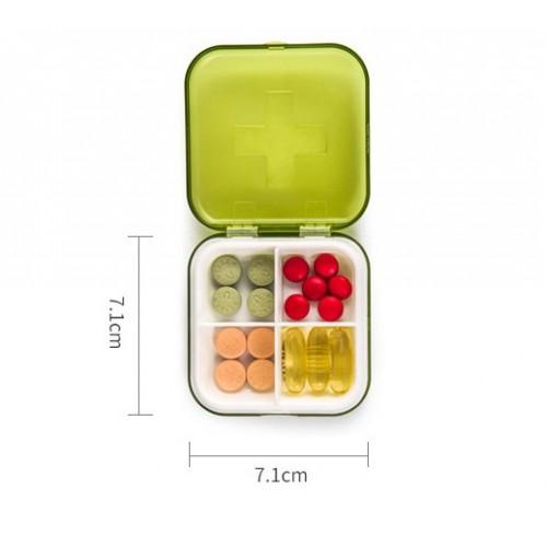 Карманная таблетница Pocket Pill Case Mini. Оранжевый  в  Интернет-магазин Zelenaya Vorona™ 4