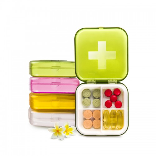 Карманная таблетница Pocket Pill Case Mini. Оранжевый  в  Интернет-магазин Zelenaya Vorona™ 2