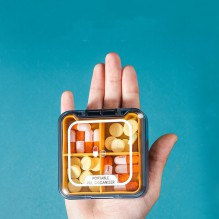Карманная таблетница на 4 отделения Pill organizer