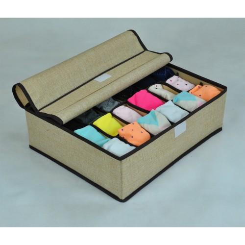 Покупка  Органайзер для мужского белья и носков. Бежевый в  Интернет-магазин Zelenaya Vorona™