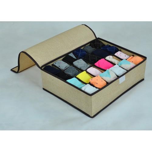 Органайзер для мужского белья и носков. Светло-серый  в  Интернет-магазин Zelenaya Vorona™ 1