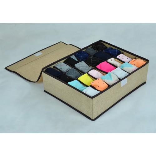 Органайзер для мужского белья и носков. Светло-серый  в  Интернет-магазин Zelenaya Vorona™ 2