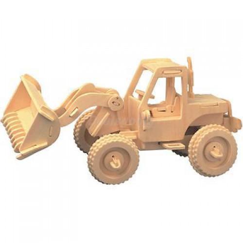 Покупка  3D Деревянный конструктор. Модель Бульдозер в  Интернет-магазин Zelenaya Vorona™