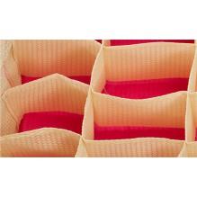 Комбинированный органайзер для нижнего белья с крышкой. Розовый