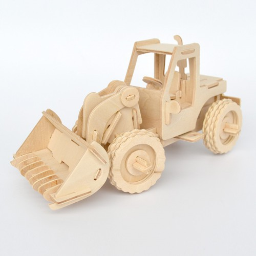 3D Деревянный конструктор. Модель Бульдозер  в  Интернет-магазин Zelenaya Vorona™ 1