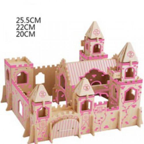 Покупка  3D Деревянный конструктор. Модель Замок Принцессы в  Интернет-магазин Zelenaya Vorona™