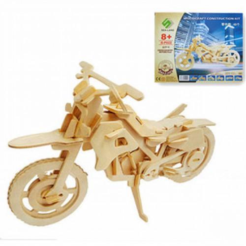 Покупка  3D Деревянный конструктор. Модель Мотоцикл в  Интернет-магазин Zelenaya Vorona™