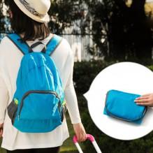 Складной рюкзак для путешествий (синий, серый)