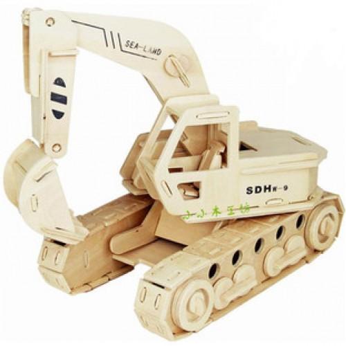 Покупка  3D Деревянный конструктор. Модель Экскаватор в  Интернет-магазин Zelenaya Vorona™