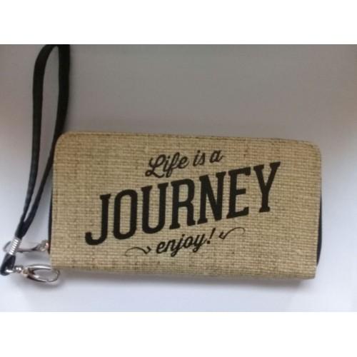 """Кошелек с ремешком на руку """"Life is a Journey enjoy""""  в  Интернет-магазин Zelenaya Vorona™ 1"""