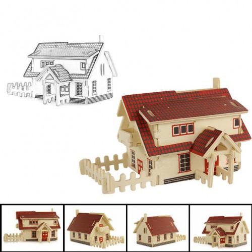 Покупка  3D Деревянный конструктор. Модель Ранчо в  Интернет-магазин Zelenaya Vorona™