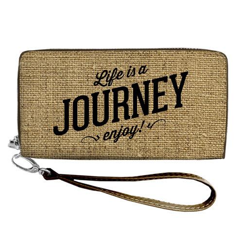 """Покупка  Кошелек с ремешком на руку """"Life is a Journey enjoy"""" в  Интернет-магазин Zelenaya Vorona™"""