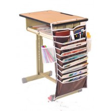 Настольный органайзер для учебных книг и тетрадей. Коричневый
