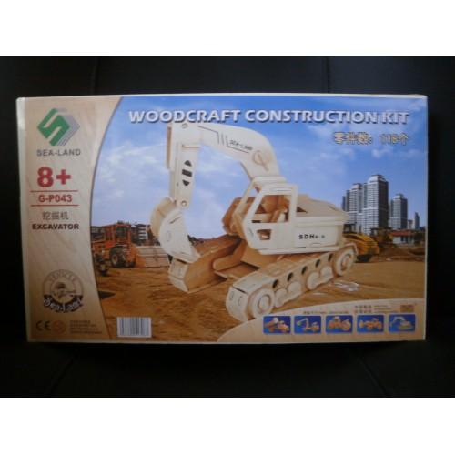 3D Деревянный конструктор. Модель Экскаватор  в  Интернет-магазин Zelenaya Vorona™ 1