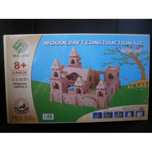 3D Деревянный конструктор. Модель Замок Принцессы  в  Интернет-магазин Zelenaya Vorona 1