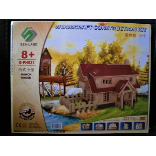 3D Деревянный конструктор. Модель Ранчо  в  Интернет-магазин Zelenaya Vorona™ 2