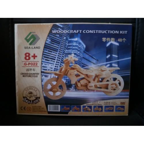 3D Деревянный конструктор. Модель Мотоцикл  в  Интернет-магазин Zelenaya Vorona™ 1