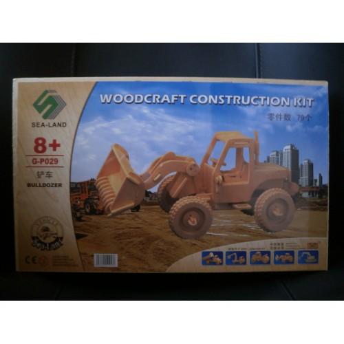 3D Деревянный конструктор. Модель Бульдозер  в  Интернет-магазин Zelenaya Vorona™ 2