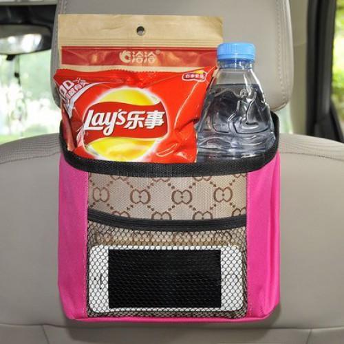Органайзер на спинку сидения в автомобиль. Малиновый  в  Интернет-магазин Zelenaya Vorona™ 1