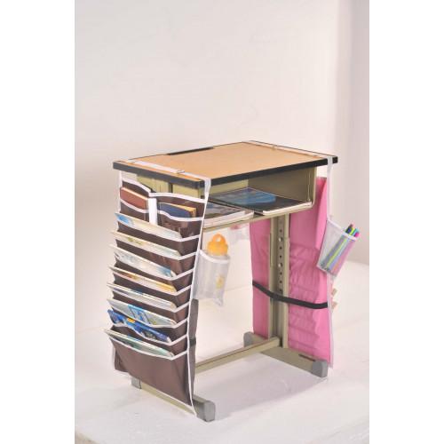 Настольный органайзер для учебных книг и тетрадей. Коричневый  в  Интернет-магазин Zelenaya Vorona™ 1
