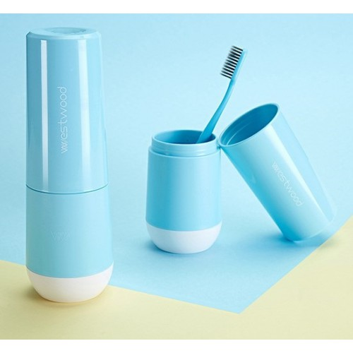 Travel чашка Westwood для зубной пасты и щетки. Голубая  в  Интернет-магазин Zelenaya Vorona™ 2
