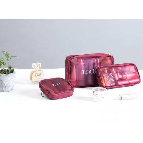 Набор дорожных органайзеров Neatness-Beauty-Etc. Бордовый  в  Интернет-магазин Zelenaya Vorona™ 3
