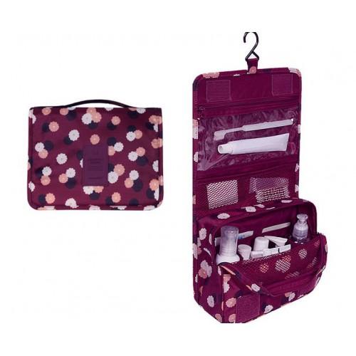 Покупка  Дорожный органайзер Monopoly toiletry pouch. Бордовый в цветочки. УЦЕНКА в  Интернет-магазин Zelenaya Vorona™