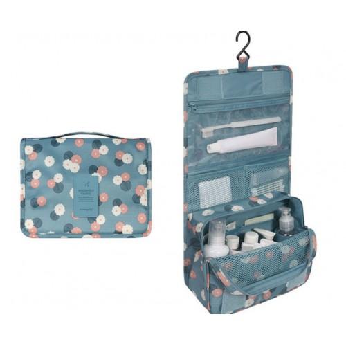 Покупка  Дорожный органайзер Monopoly toiletry pouch. Голубой в цветочки УЦЕНКА в  Интернет-магазин Zelenaya Vorona™